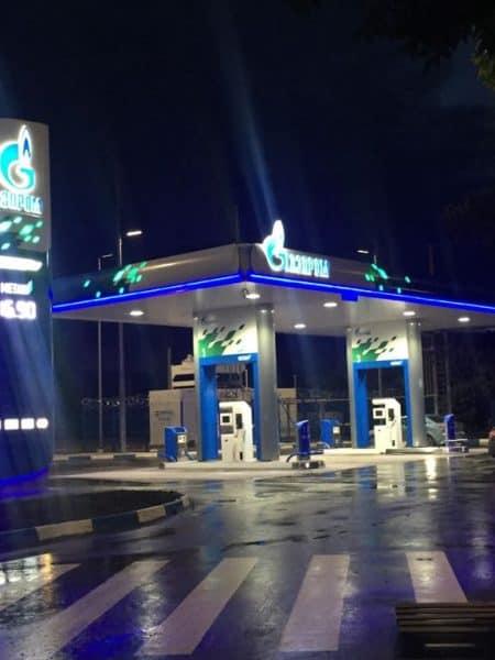 Метановая заправка Газпром