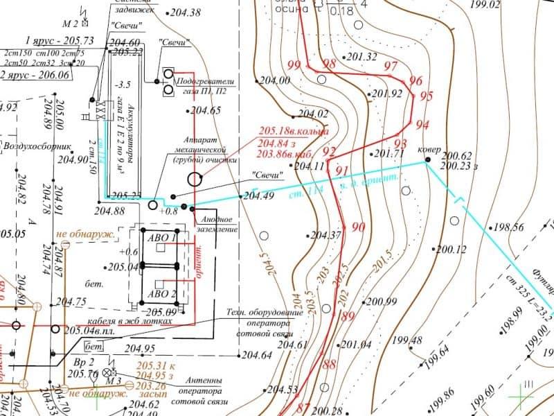 геодезические работы на АГНКС
